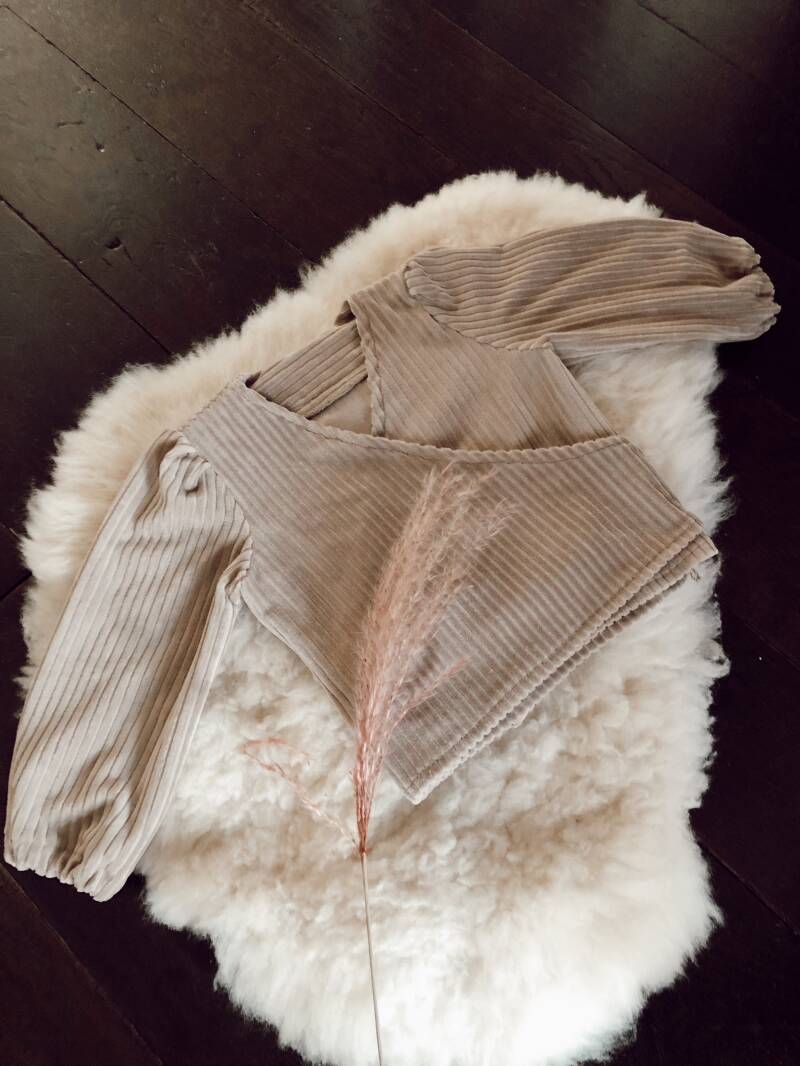 Ribcord wrapvest soft taupe