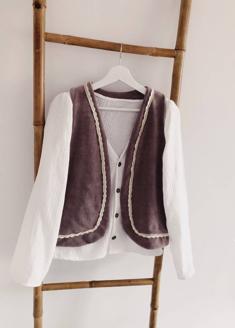 WOMAN Soft Taupe gilet