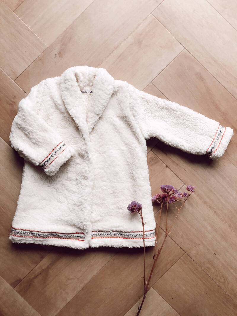Teddy coat off-white