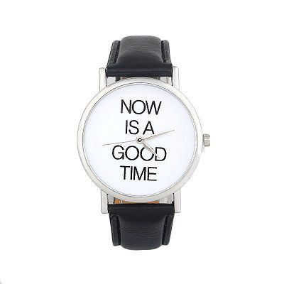 Now is a good time