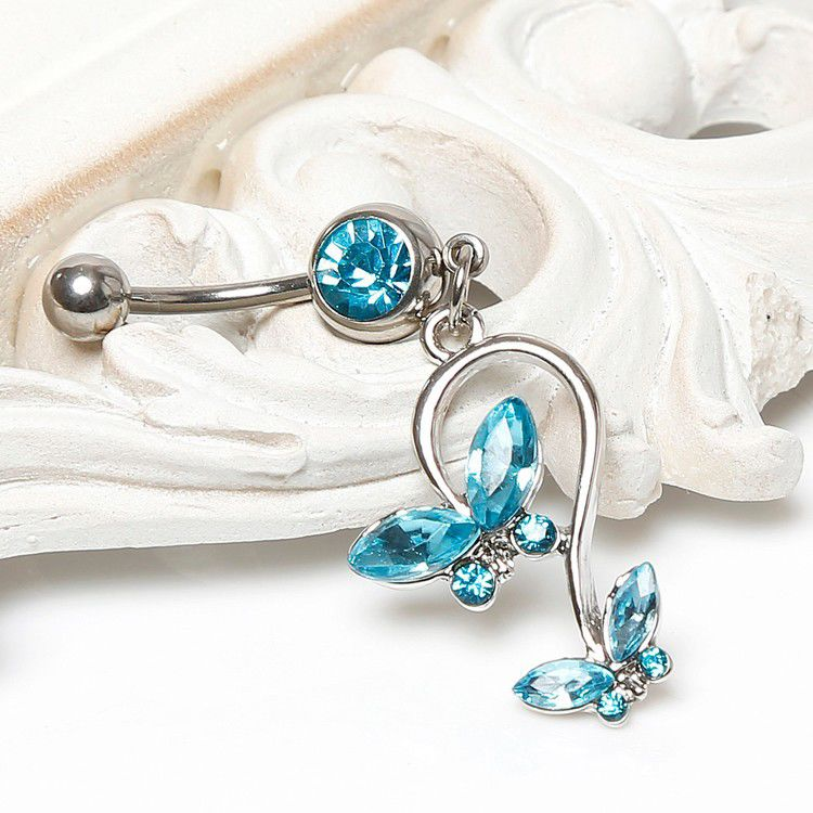 Navelpiercing Butterfly Blauw