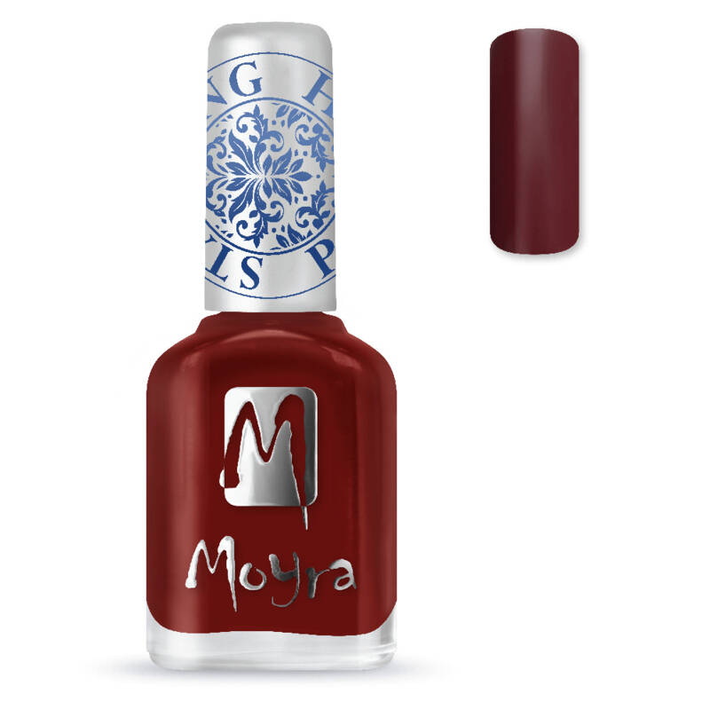 Stamping Nail Polish 03 Burgundy Red