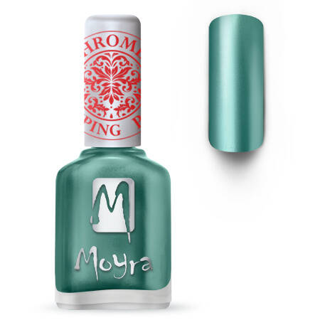Stamping Nail Polish 27 Chrome Green