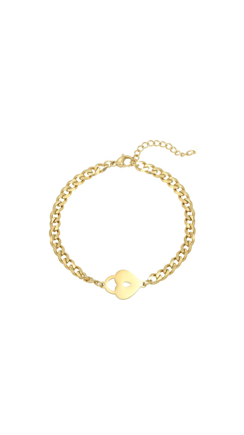 "Armband ""Locked Heart"" goud"