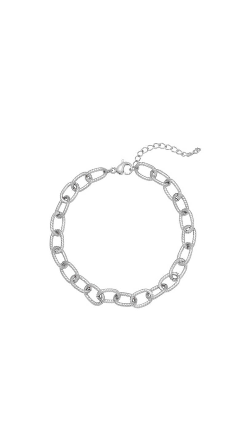 """Armband """"Chiseled Chain"""" zilver"""