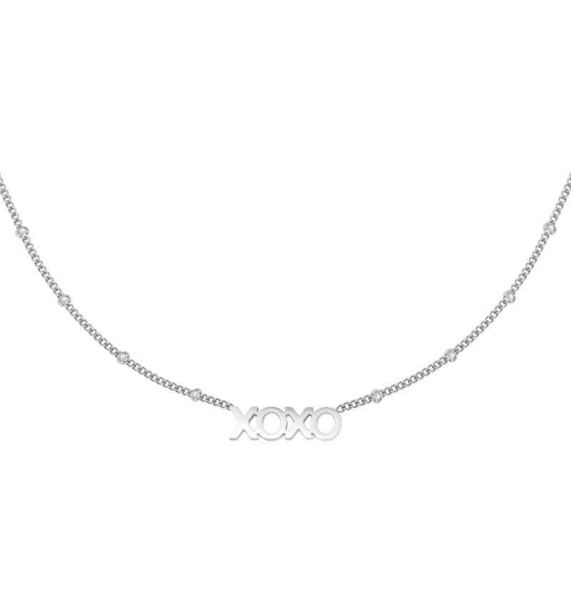 """Ketting """"Dotted XOXO"""" zilver"""