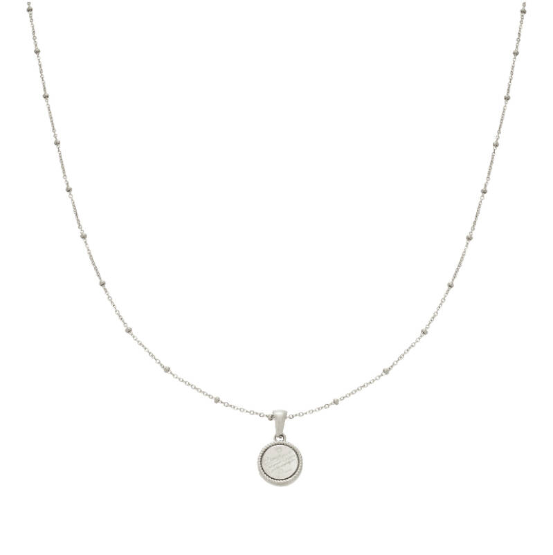 """Ketting """"Cute Quote"""" zilver"""