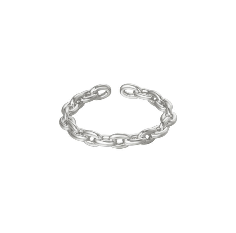 """Ring """"Connected"""" zilver"""