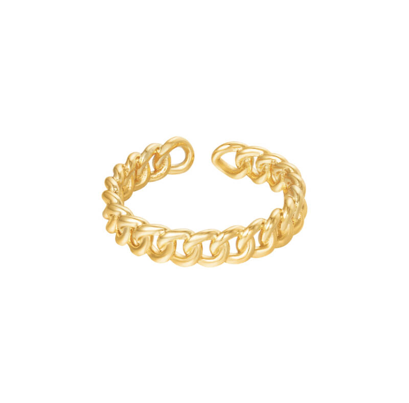 """Ring """"In Connection"""" goud"""