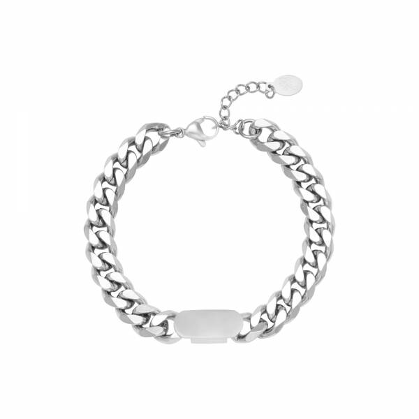 """Armband """"Power Woman"""" zilver"""
