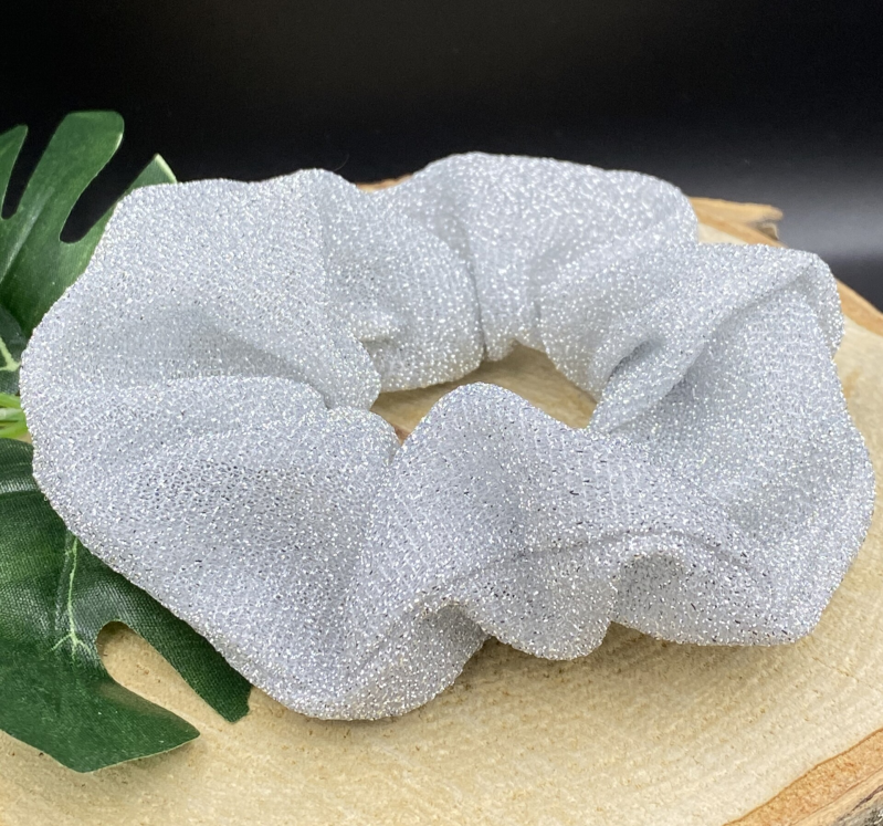 "Scrunchie ""Disco"" (zilver)"