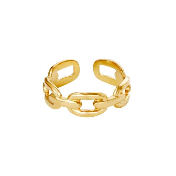 """Ring """"Oval Chain"""" goud"""