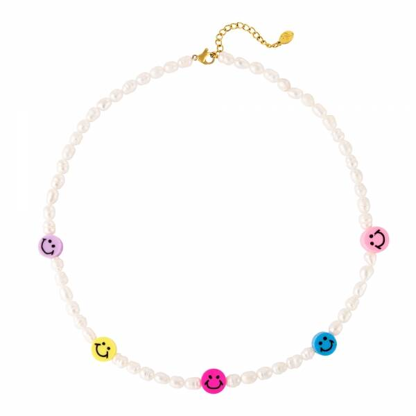 """Ketting """"Colored Smiley"""""""