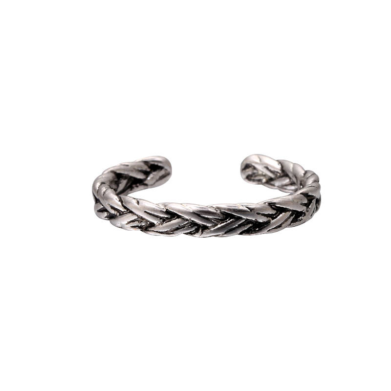 "Ring ""Curl Braid"" zilver"