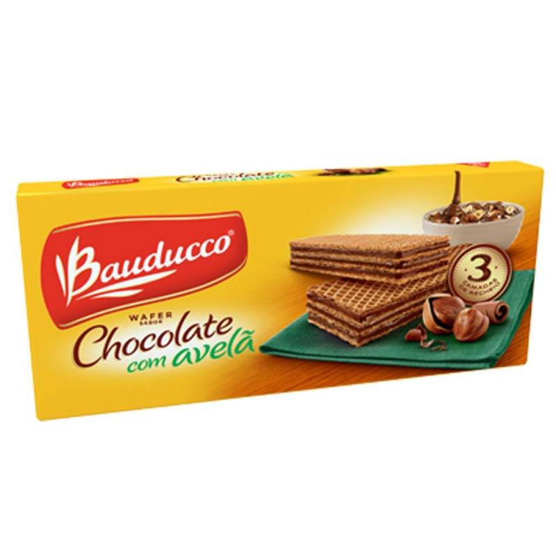 Biscoito Wafer Chocolate com Avelã 140g - Bauducco