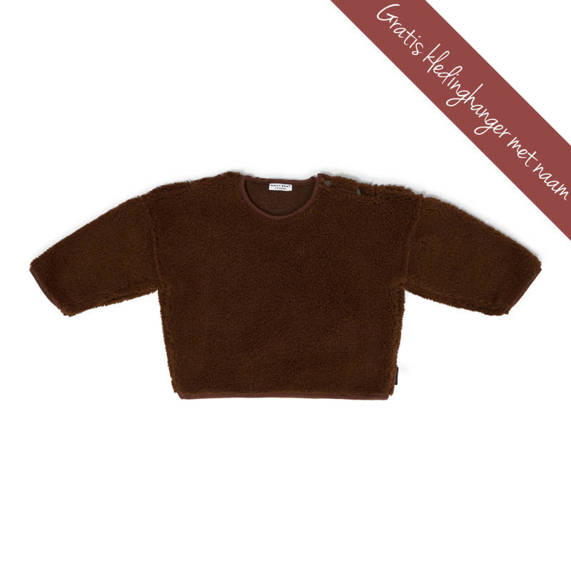 DAILY BRAT • oversized trui Teddy • walnut