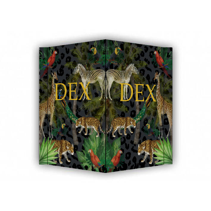 Geboortebord XL • Dex jungle dieren
