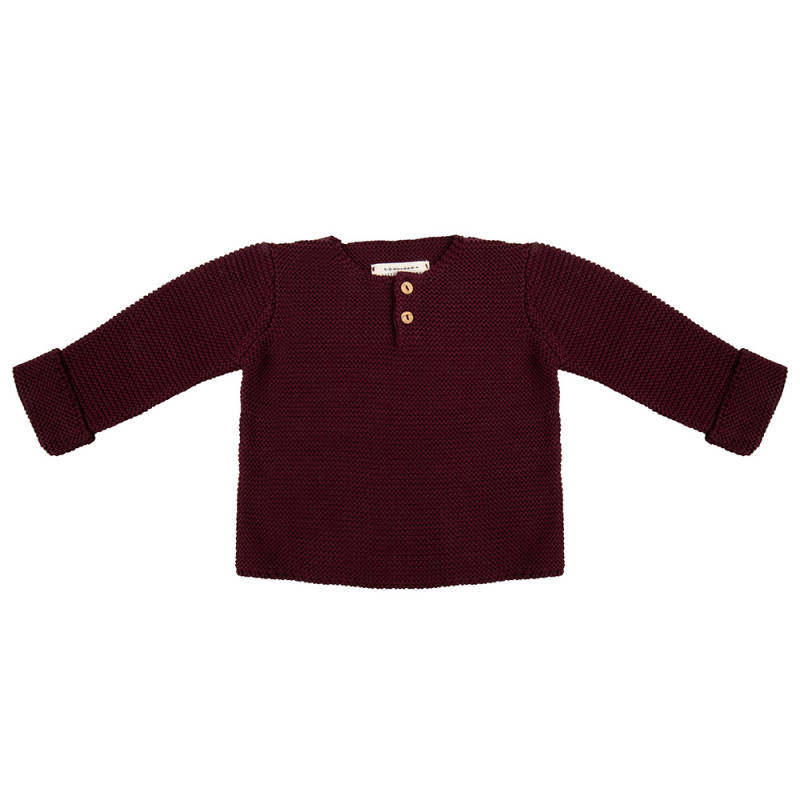 Little Indians • knit sweater • Eggplant