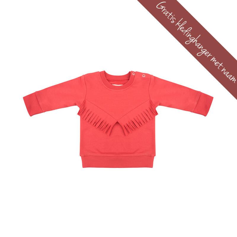 Little Indians • boho sweater • rood