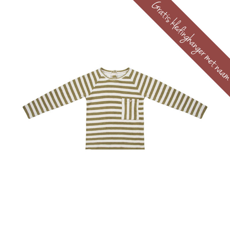 Little Indians • sweater stripe • olijf