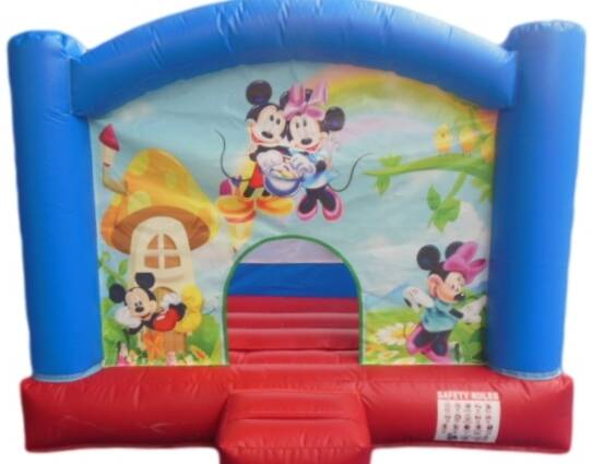 Springkussen Mickey en Minnie