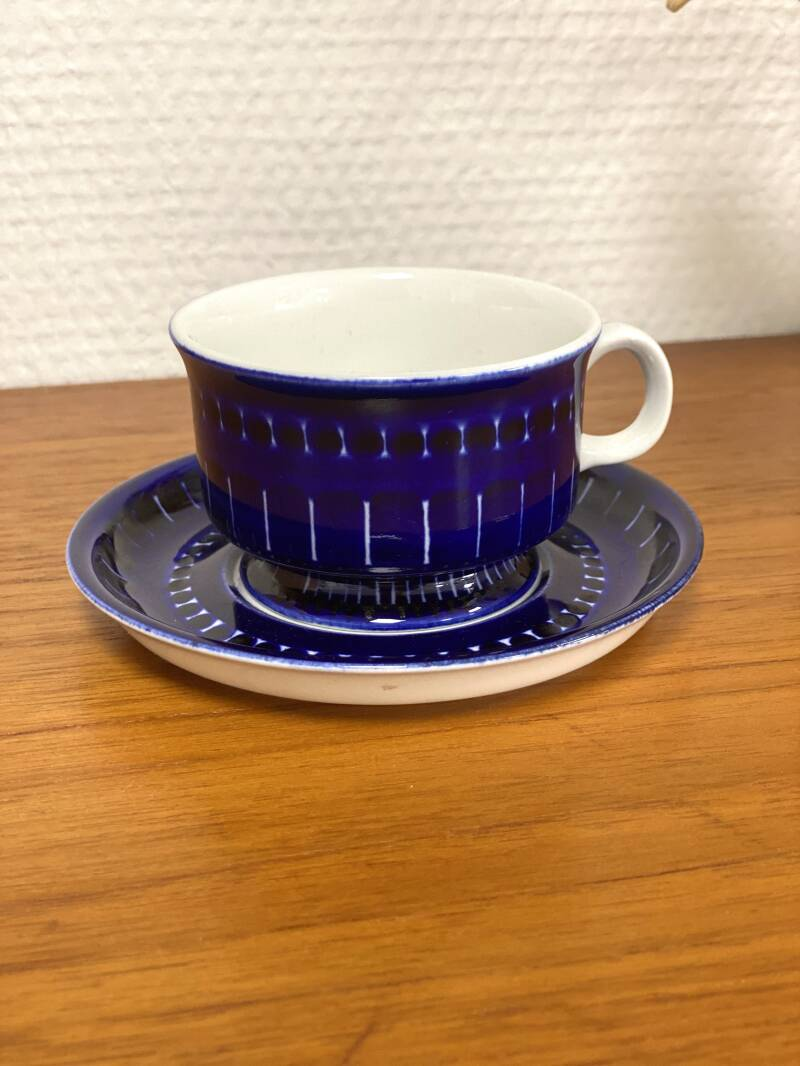 "Arabia Finland ""Valencia"" - Coffee cup and saucer (2)"