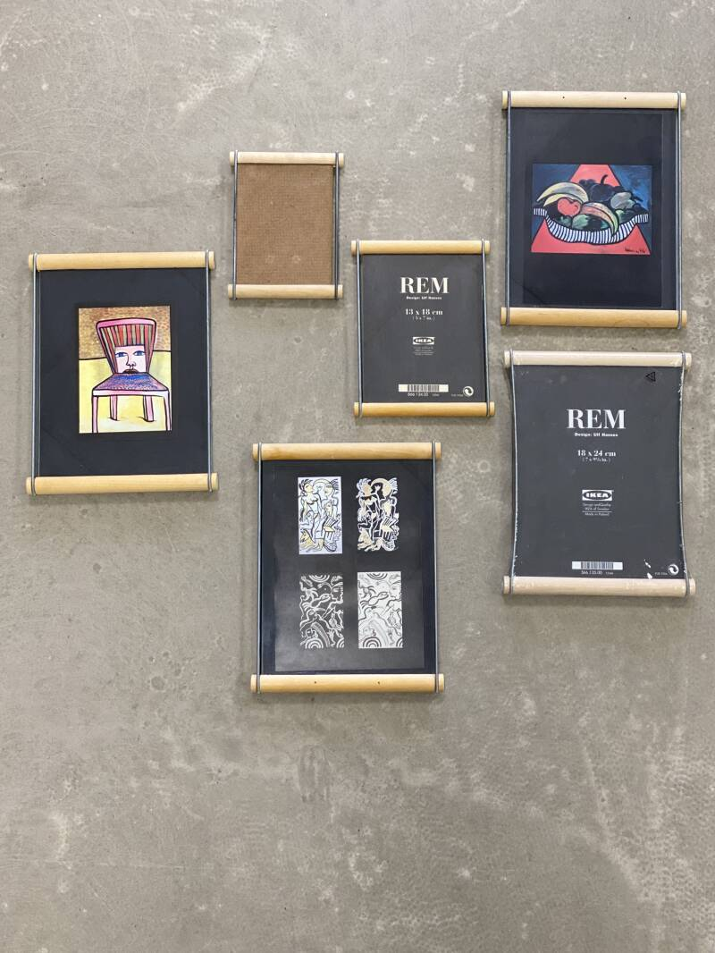 "Vintage IKEA - Set of 6 photo frames ""REM"" - Ulf Hanses"