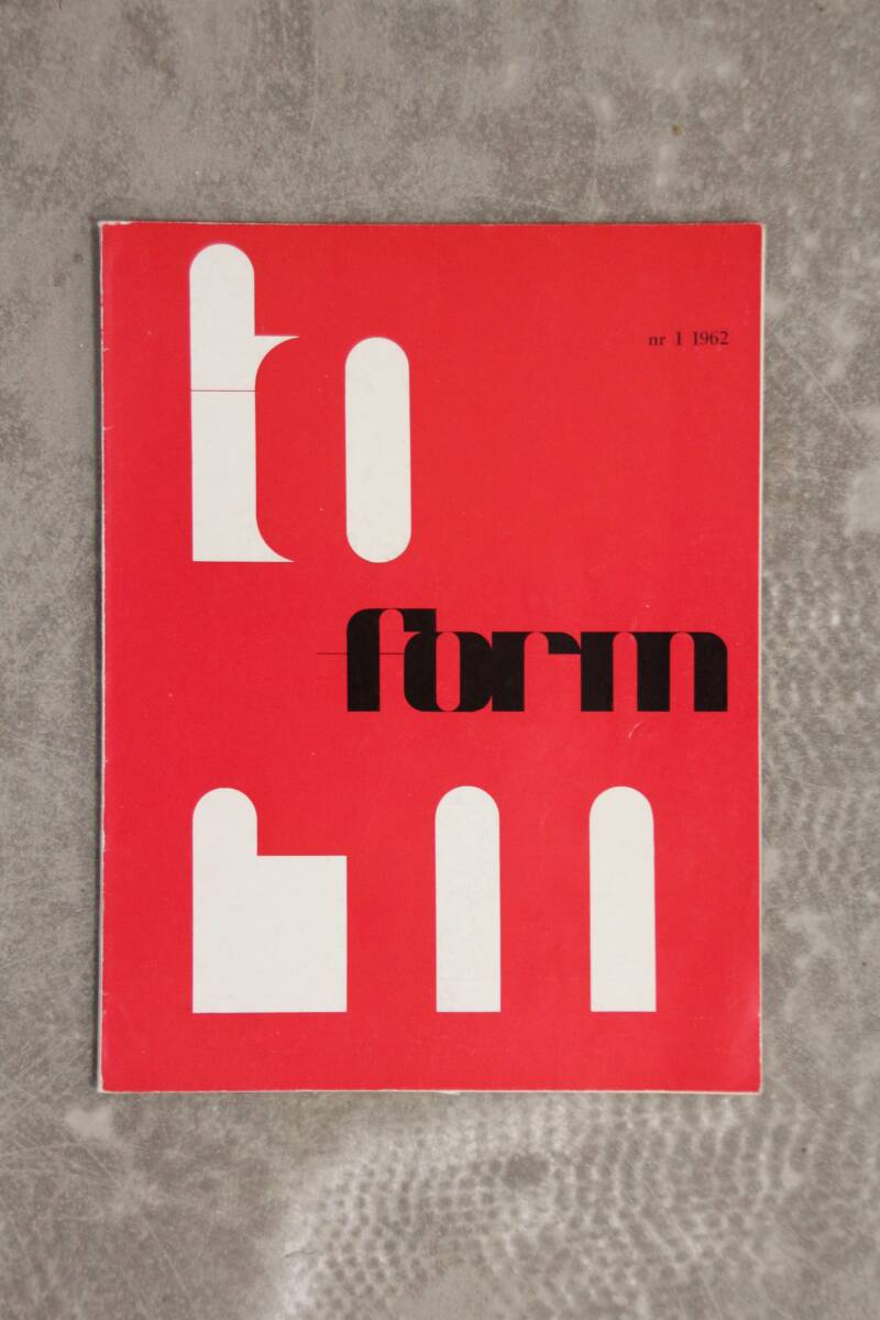Form Magazine No. 1 1962