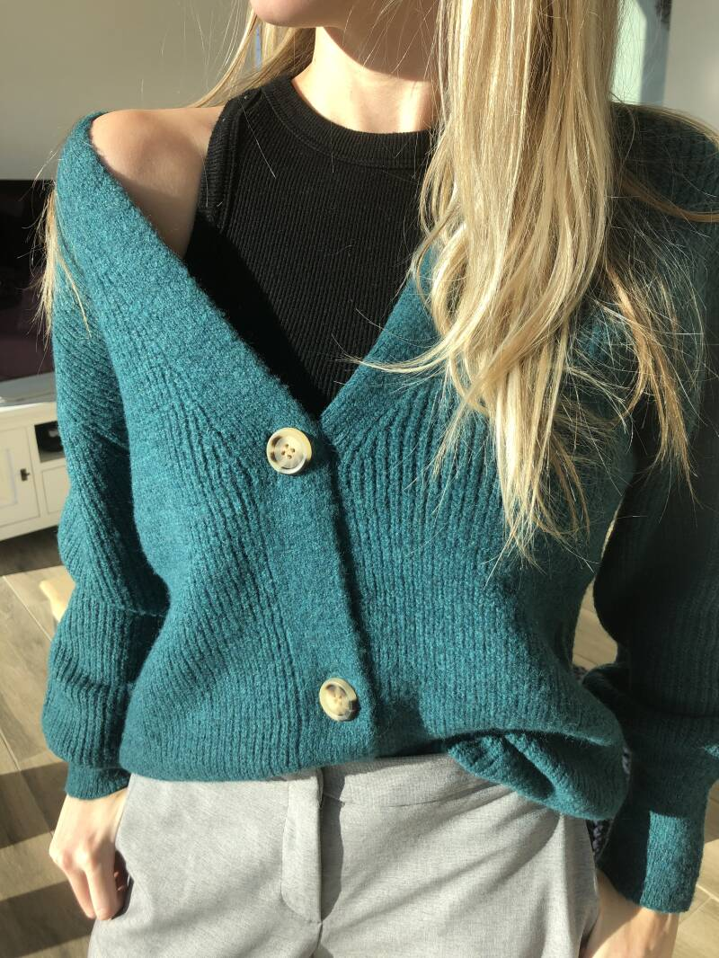 Blue-Green cardigan - ONE SIZE