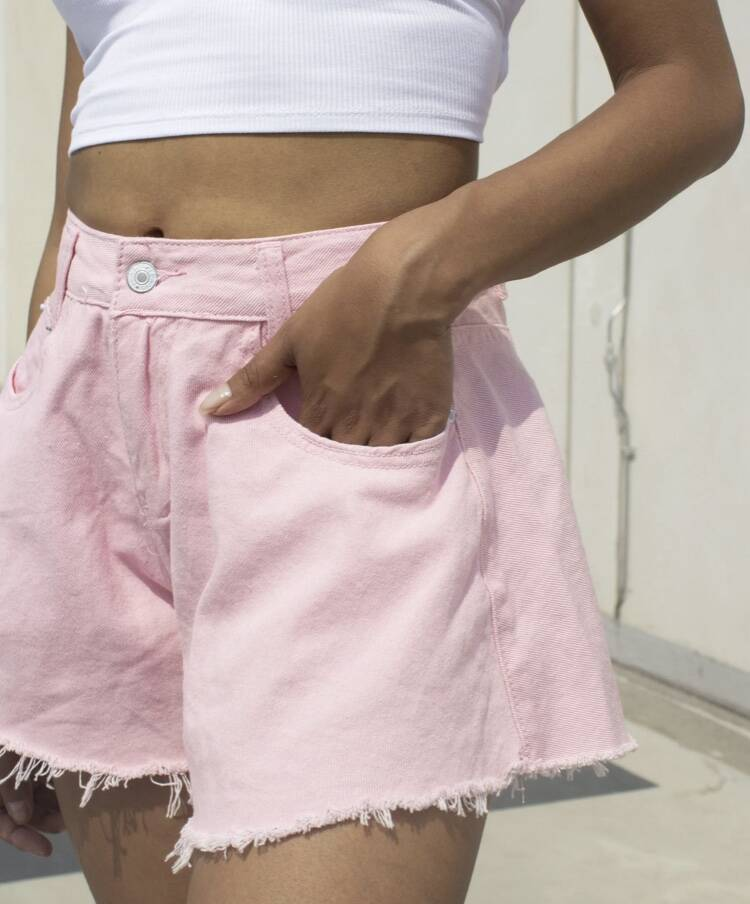 Pink wide shorts