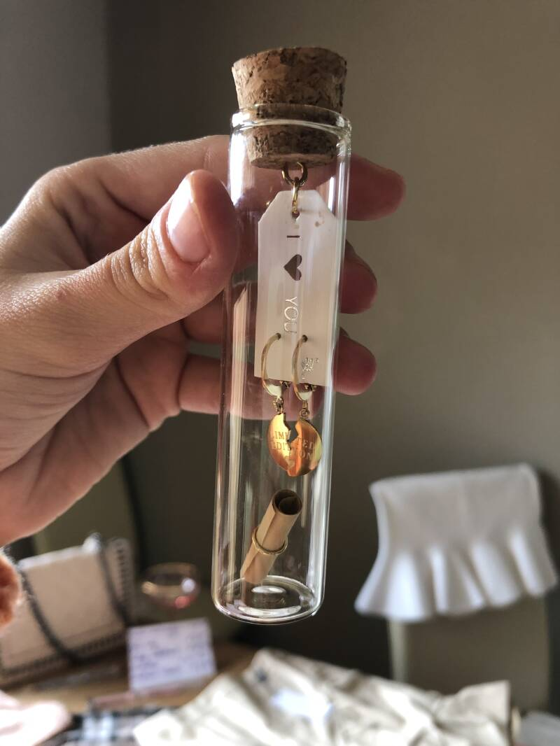 Earrings in a bottle (gift idea)