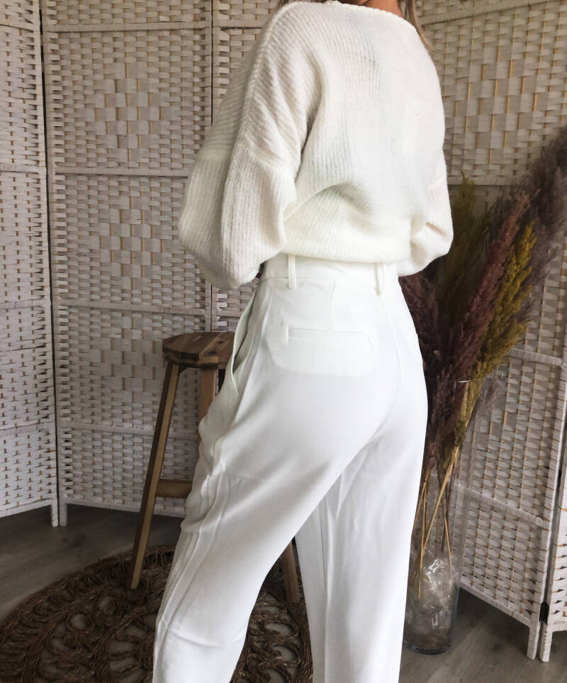White classy trousers