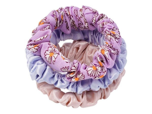 Set flower scrunchies (3 colours)