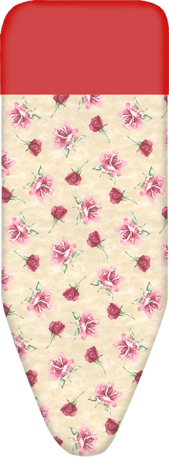 Bluvardi Strijkplankovertrek - START- Siliconband Glide Cotton-140x55 cm - Rosas
