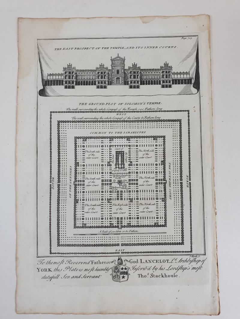 The East prospect of the Tempel uit 1721-1750