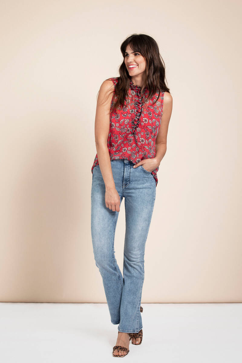 GROOVY FLARE JEANS TROUSERS