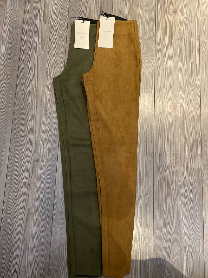 CARAMEL SUED TROUSERS