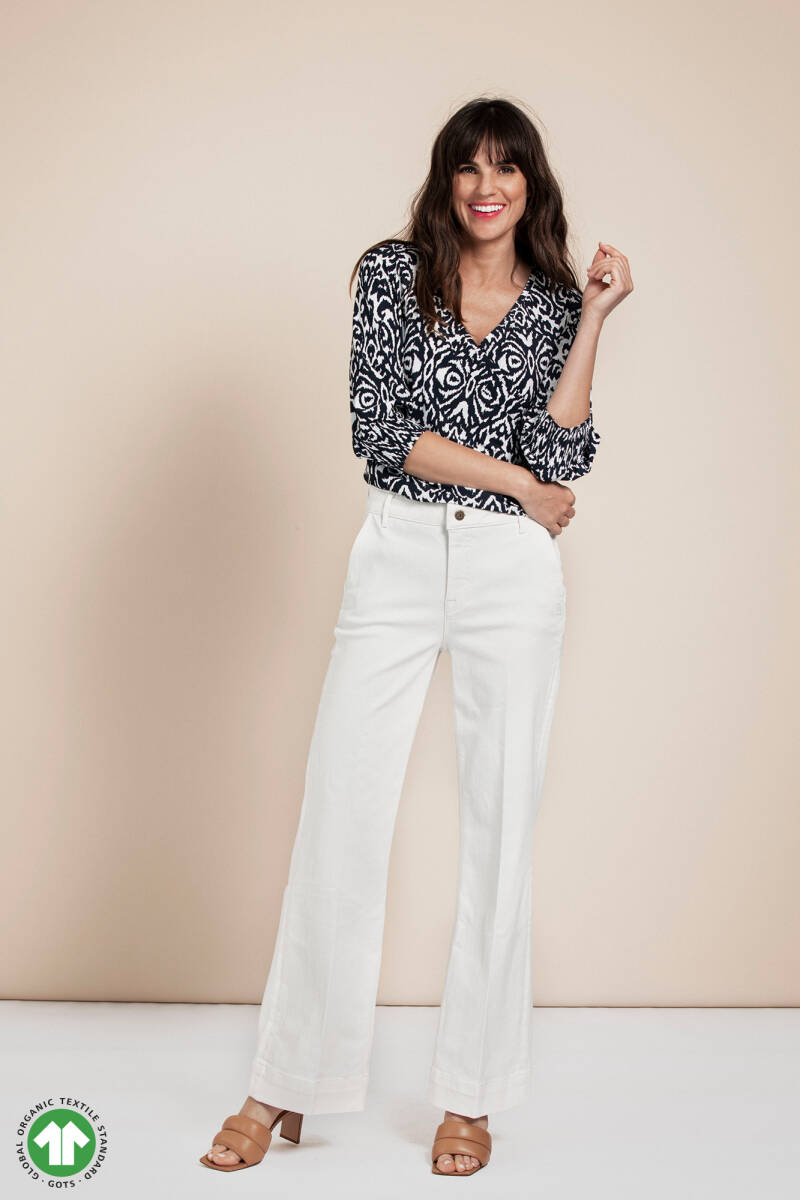 MARLY ORGANIC FLARE TROUSERS