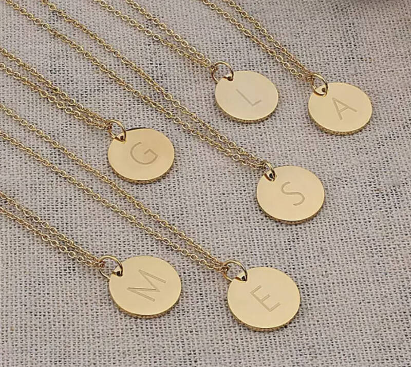 Letter ketting stainless steel - goud