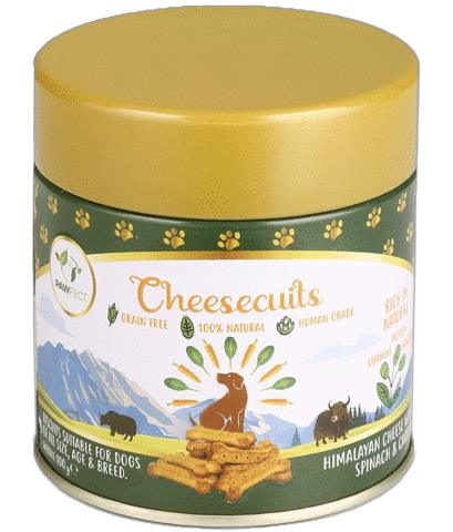 Pawfect Cheese biscuit with Spinach & Carrots 100 gram