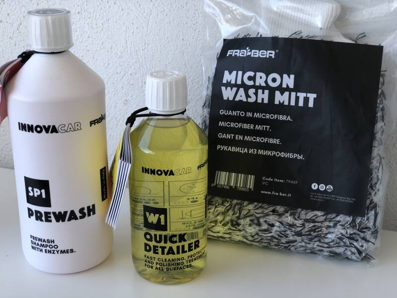 Wash package basic nr 1 of InnovaCar by Fra-Ber