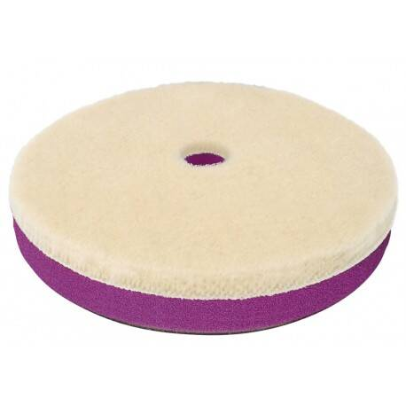 "ZviZZer ""Doodle""-Woolpad For eccentric polishing machines with a large stroke white 135mm"