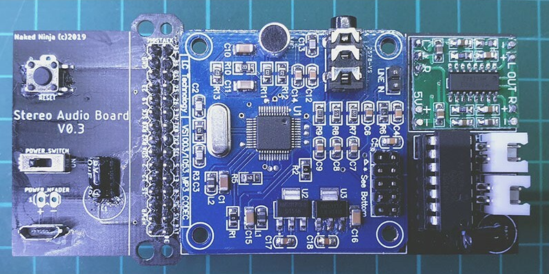 M5Stack Stereo Audio Board PCB