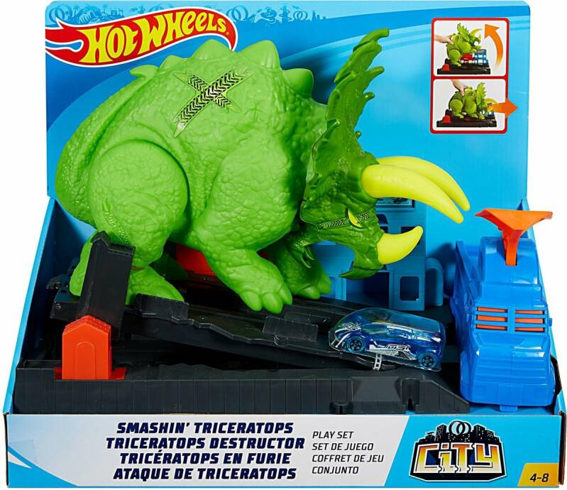 Hot Wheels City Verpletterende Triceratops Speelset