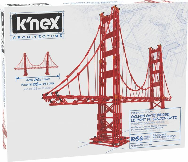 K'NEX Architecture - Golden Gate Bridge Bouwset
