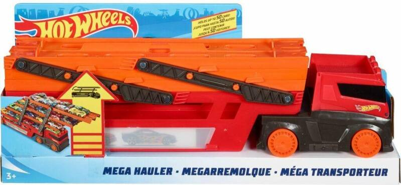 Hot Wheels Mega Red Hauler 50 Th
