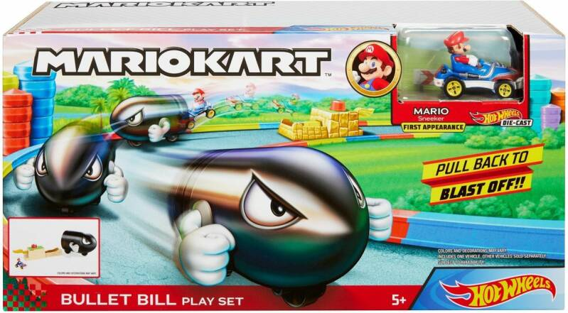 Hot Wheels Mario Kart Speelset - Bullet Bill