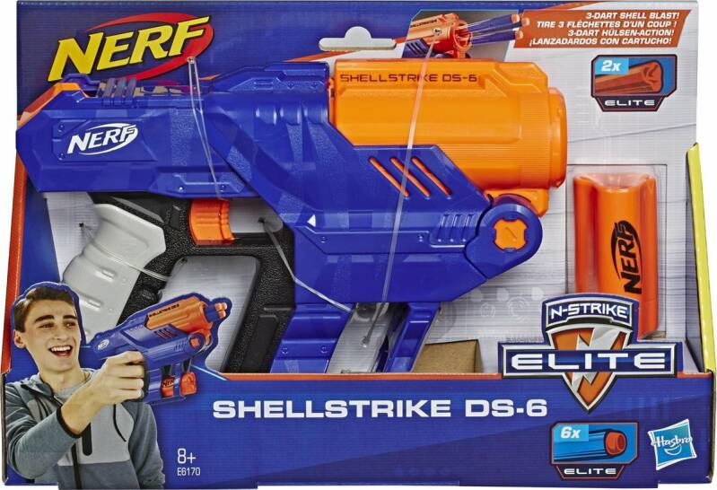 NERF Elite Shellstrike DS-6 - Blaster