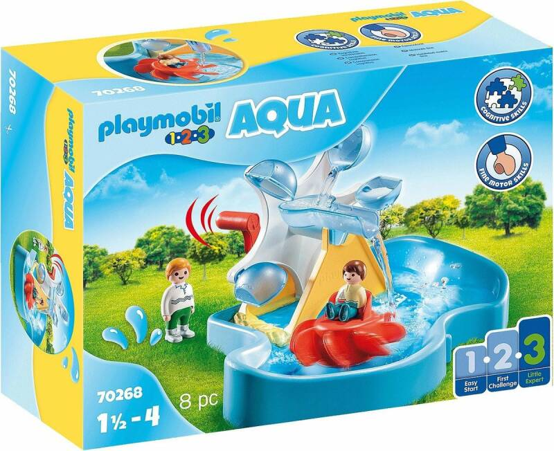 PLAYMOBIL 123 AQUA Waterrad met carrousel - 70268