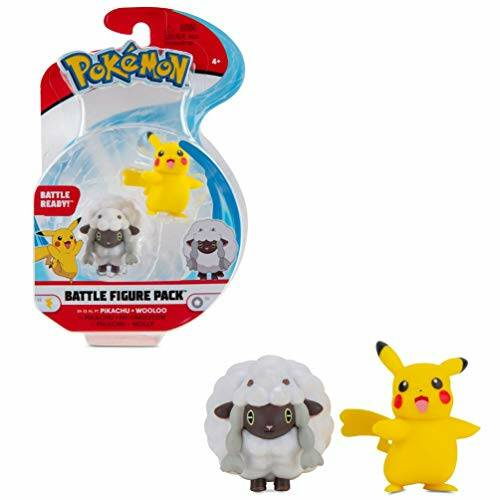 Pokemon Battle Figure Pack - Pikachu & Wooloo
